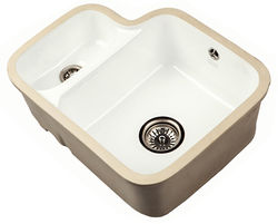 1810 Undermounted Ceramic Kitchen Sink With Two Bowls (545x440mm).