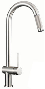 1810 Grande Single Lever Kitchen Tap (Brushed Steel).