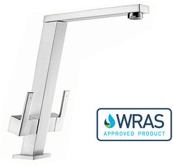 1810 Pendenza Dual Lever Kitchen Tap (Chrome).