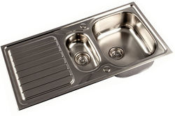 1810 Reversible Inset Kitchen Sink With Two bowls (Satin, 1000x500).