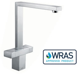 1810 Vesare Square Dual Control Kitchen Tap (Chrome).