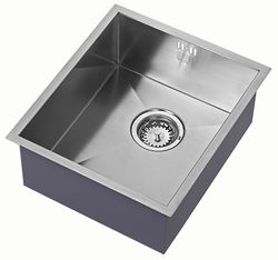 1810 Undermounted Kitchen Sink With Plumbing Kit (Satin, 340x400mm).