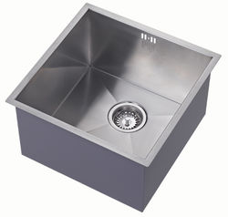 1810 Undermounted Deep Kitchen Sink With Kit (Satin, 400x400mm).