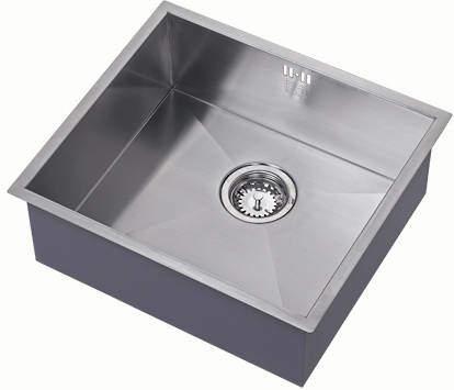 1810 Undermounted Kitchen Sink With Plumbing Kit (Satin, 450x400mm).