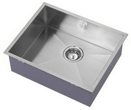 1810 Undermounted Kitchen Sink With Plumbing Kit (Satin, 500x400mm).