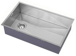 1810 Undermounted Kitchen Sink With Plumbing Kit (Satin, 400x700mm).