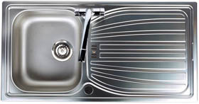 Astracast Sink Alto 1.0 bowl satin polished kitchen sink.
