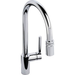 Abode Ratio Single Lever Pull Out Kitchen Tap (Chrome).