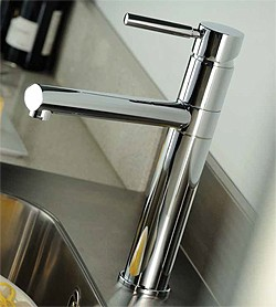 Abode Hydrus Single Lever Kitchen Tap With Swivel Spout (Chrome).