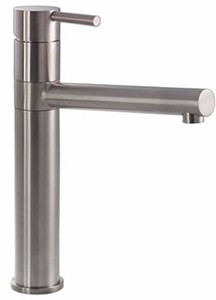 Abode Ignus Tall Kitchen Tap With Swivel Spout (Stainless Steel).