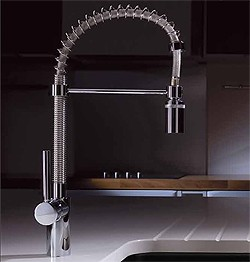 Abode Ratio Professional Kitchen Tap With Swivel Spout (Chrome).