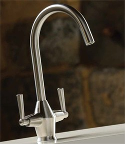 Abode Taura Monobloc Kitchen Tap With Swivel Spout (Stainless Steel).