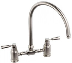 Abode Hargrave Swan Neck Bridge Kitchen Tap (Brushed Nickel).