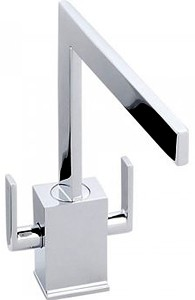 Abode Edge Monobloc Kitchen Tap With Swivel Spout (Chrome).
