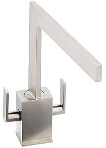 Abode Edge Monobloc Kitchen Tap With Swivel Spout (Brushed Nickel).