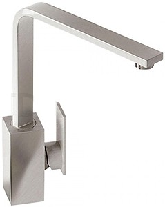 Abode Media Monobloc Kitchen Tap With Swivel Spout (Brushed Nickel).