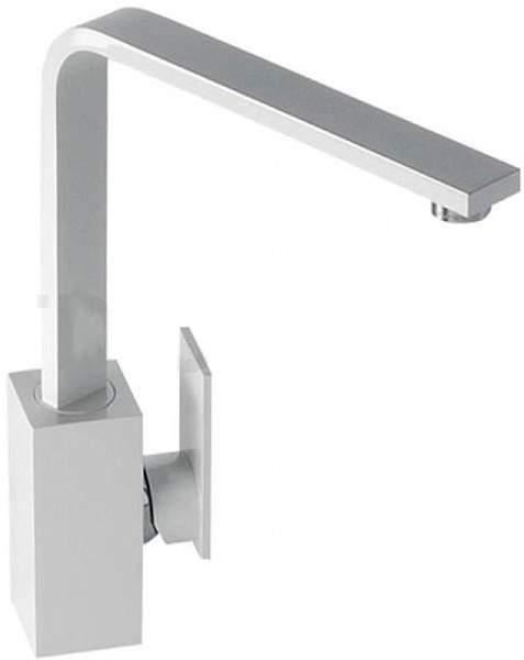 Abode Media Monobloc Kitchen Tap With Swivel Spout (Gloss White).