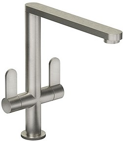 Abode Linear Monobloc Kitchen Tap With Swivel Spout (Brushed Nickel).
