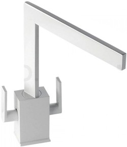 Abode Edge Monobloc Kitchen Tap With Swivel Spout (Gloss White).