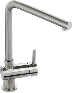 Abode Quala Monobloc Kitchen Tap With Swivel Spout (Stainless Steel).