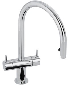 Abode Hesta Kitchen Tap With Spray Rinser (Chrome).