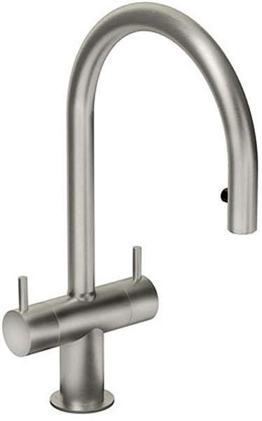 Abode Hesta Kitchen Tap With Spray Rinser (Brushed Nickel).