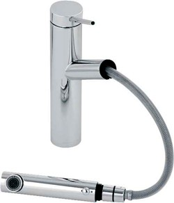 Abode Pluro Pull Out Kitchen Tap With Swivel Spout (Chrome).