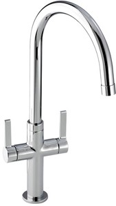 Abode Linear Style Kitchen Tap With Swivel Spout (Chrome).