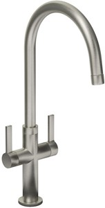 Abode Linear Style Kitchen Tap With Swivel Spout (Brushed Nickel).