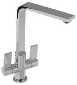 Abode Linear Flair Kitchen Tap With Swivel Spout (Brushed Nickel).