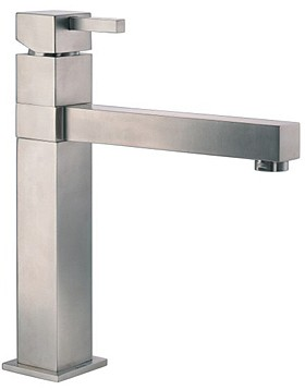 Abode Gino Single Lever Kitchen Tap (Stainless Steel).