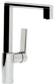 Abode Indus Single Lever Kitchen Tap (Chrome).