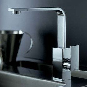 Abode Media Slimline Single Lever Kitchen Tap (Chrome).