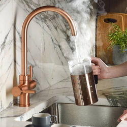 Abode Pronteau 3 In 1 Boiling Water Filtered Kitchen Tap (Urban Copper).