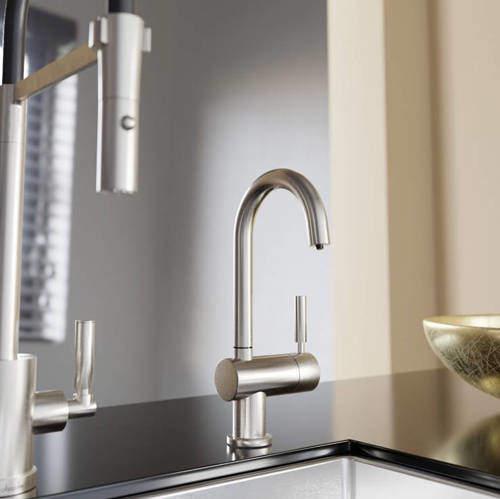 Abode Pronteau Boiling Hot & Cold Filtered Kitchen Tap 98° (Brushed Nickel).