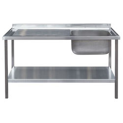 Acorn Thorn Catering Sink With LH Drainer & Legs 1000mm (Stainless Steel).