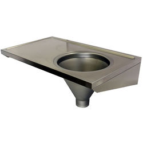 Acorn Thorn Hospital Sluice Sink With Plain Top (RH, Stainless Steel).