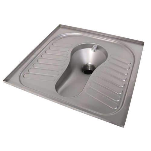 Acorn Thorn Squatting Toilet Pan (Stainless Steel).
