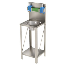 Acorn Thorn Freestanding Wash Basin Unit With Round Bowl (Stainless Steel).