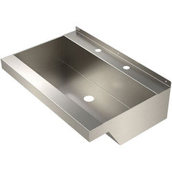 Acorn Thorn Wall Mounted Wash Trough Basin (Stainless Steel).
