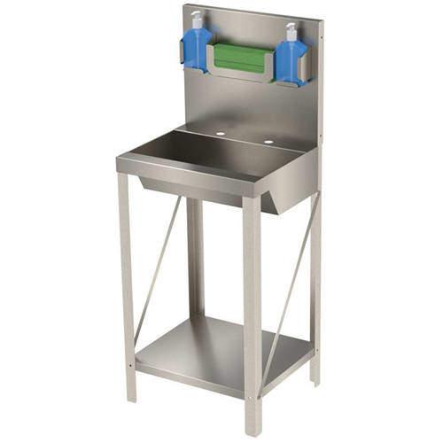 Acorn Thorn Freestanding Hospital Wash Basin Unit (Stainless Steel).