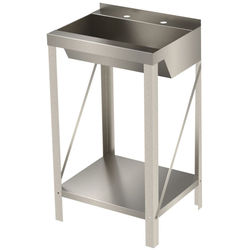 Acorn Thorn Freestanding Wash Basin With Trough Bowl (Stainless Steel).