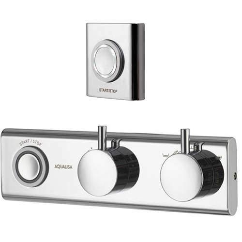 Aqualisa HiQu Digital Bath Filler / Hand Shower Valve & Remote (HP, Combi).