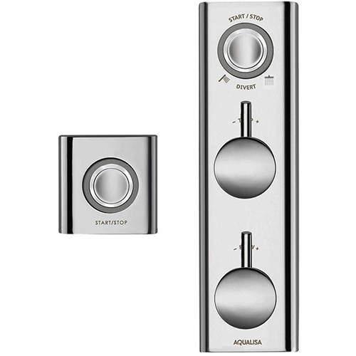 Aqualisa HiQu Digital Dual Shower Valve With Remote Control (HP, Combi).
