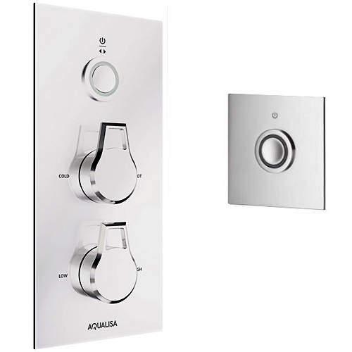Aqualisa Infinia Digital Shower & Remote (Chrome Astratta Handles, GP).
