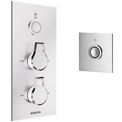 Aqualisa Infinia Digital Shower & Remote (Chrome & White Astratta Hand, HP).