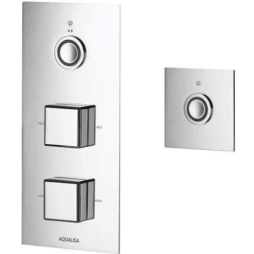Aqualisa Infinia Digital Shower & Remote (Chrome Piazza Handles, HP).