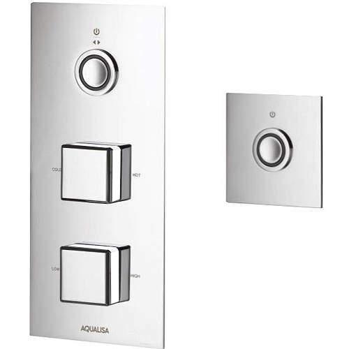 Aqualisa Infinia Digital Shower & Remote (Chrome & White Piazza Hand, HP).