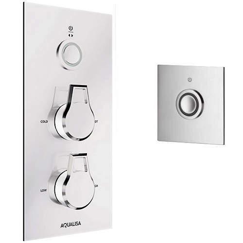 Aqualisa Infinia Digital Shower, Remote (Chrome & White Astratta Handles, GP).