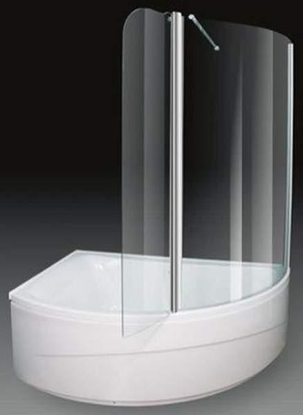 Aquaestil Comet Corner Shower Bath With Screen.  Left Hand. 1500x1000mm.